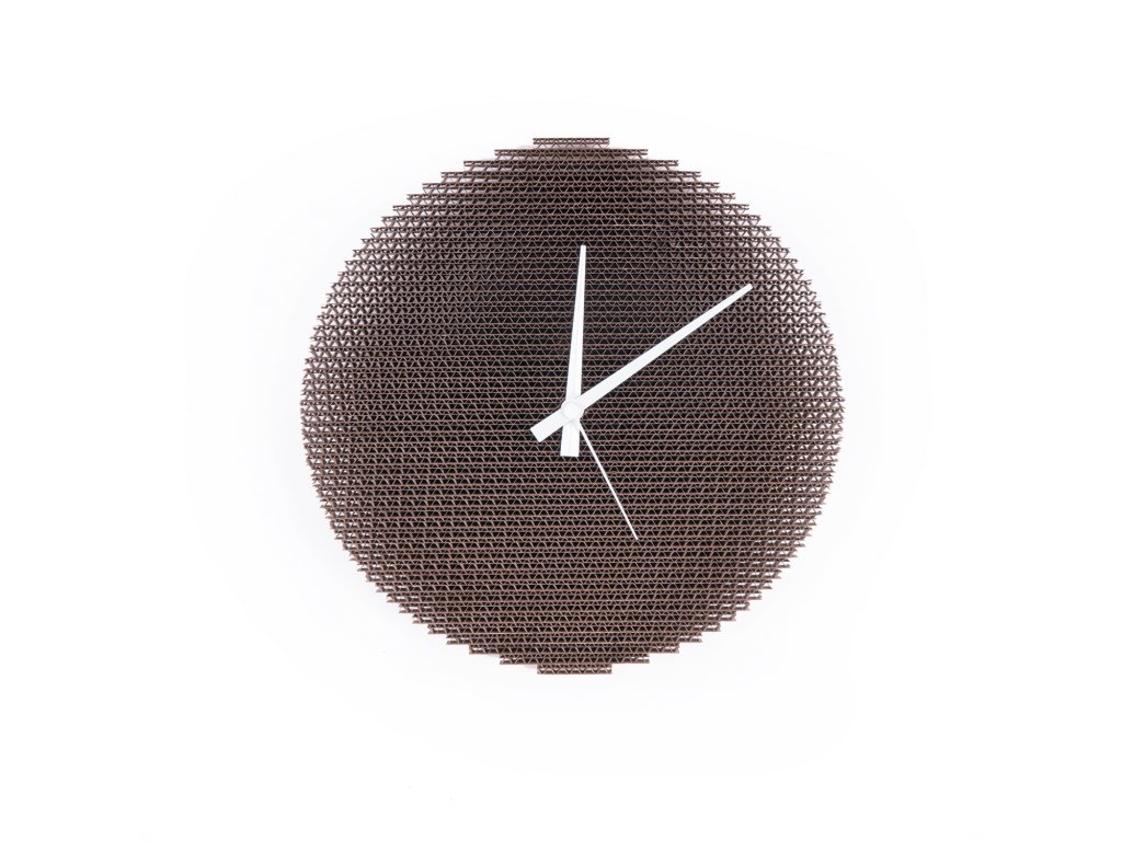 Kartoons Cardboard clock Circlock WH 02 1500 x 1500px
